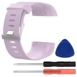 TPE okosóra szíj - FITBIT SURGE - LILA - L méret, 10cm + 13cm, a cseréhez szükséges eszközökkel!
