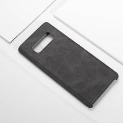 USAMS BOB Series műanyag védő tok / bőr hátlap - FEKETE - műbőr hátlap - SAMSUNG SM-N950F Galaxy Note8 - GYÁRI