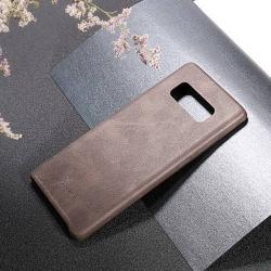 USAMS BOB Series műanyag védő tok / bőr hátlap - KÁVÉBARNA - műbőr hátlap - SAMSUNG SM-N950F Galaxy Note8 - GYÁRI
