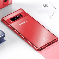 USAMS Mant Series műanyag védő tok / hátlap - PIROS - szilikon szegély, átlátszó hátlap - SAMSUNG SM-N950F Galaxy Note8 - GYÁRI