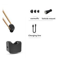 C1 SUPER MINI Bluetooth headset / james bond - FEKETE - Töltőállomással / szellőzőrácsra rögzíthető tartóval