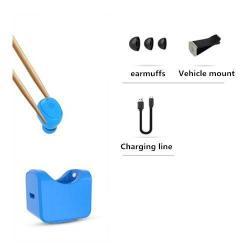 C1 SUPER MINI Bluetooth headset / james bond - KÉK - Töltőállomással / szellőzőrácsra rögzíthető tartóval