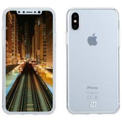 MOMAX Yolk Case műanyag védőtok / hátlap - ÁTLÁTSZÓ - APPLE iPhone X / APPLE iPhone XS - GYÁRI