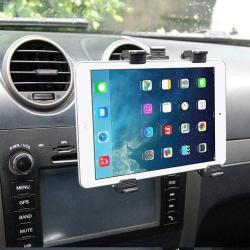 Autós / gépkocsi TABLET PC tartó - tapadókorongos, szellőzőrácsra helyezhető - 142-250mm-ig állítható bölcső, 7-11