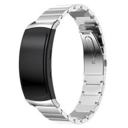 SAMSUNG Gear Fit 2 SM-R360 / Samsung Gear Fit 2 Pro SM-R365 fém okosóra szíj, 25cm - EZÜST