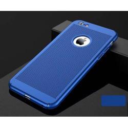 Műanyag védő tok / hátlap - lyukacsos mintás - SÖTÉTKÉK - APPLE iPhone 7 / APPLE iPhone 8