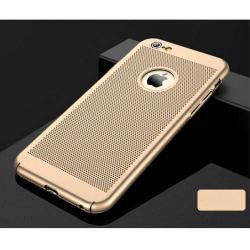 Műanyag védő tok / hátlap - lyukacsos mintás - ARANY - APPLE iPhone 7 / APPLE iPhone 8