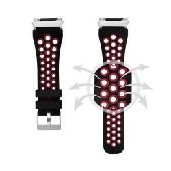 Okosóra szíj lyukacsos, légáteresztő - FEKETE / PIROS - Fitbit Ionic