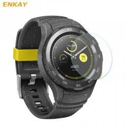 Előlap védő karcálló edzett üveg - ENKAY - edzett üveg, 2.15D lekerekített szél, 0.2mm, 9H, NEM ÍVES - Huawei Watch 2 / Huawei Watch W2