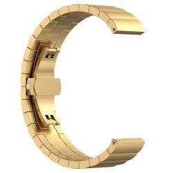 Okosóra szíj - ARANY - rozsdamentes acél, speciális pillangó csat - SAMSUNG Galaxy Watch 46mm / SAMSUNG Gear S3 Classic / SAMSUNG Gear S3 Frontier