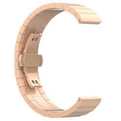 Okosóra szíj - ROSE GOLD - rozsdamentes acél, speciális pillangó csat - SAMSUNG Galaxy Watch 46mm / SAMSUNG Gear S3 Classic / SAMSUNG Gear S3 Frontier