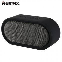 REMAX M11 hordozható bluetooth hangszóró - FEKETE - v.4.2, 3,5 jack bemenet, microSD memóriakártyaolvasó, textil borítás - GYÁRI
