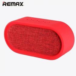 REMAX M11 hordozható bluetooth hangszóró - PIROS - v.4.2, 3,5 jack bemenet, microSD memóriakártyaolvasó, textil borítás - GYÁRI