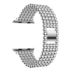 Fém okosóra szíj - EZÜST - Apple Watch Series 1 / 2 / 3 - 38mm