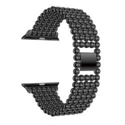 Fém okosóra szíj - FEKETE - Apple Watch Series 1 / 2 / 3 - 38mm
