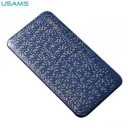 USAMS hordozható töltő / vésztöltő - belső 5000 mAh akku, 2 USB aljzat, 2 x 5V /2100mA, gyorstöltés, microUSB kábel - KÉK - US-CD20_BL - GYÁRI