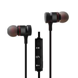 YOGEE YC342 sztereo sport bluetooth headset - v.4.2, mikrofon, hangerő és felvevő gombok, mágneses - FEKETE