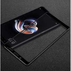 IMAK Full Cover előlap védő karcálló edzett üveg - FEKETE - 9H - Xiaomi Redmi Note 5 Pro (Global version) / Xiaomi Redmi Note 5 (Global version) - A TELJES KIJELZÕT VÉDI! - GYÁRI