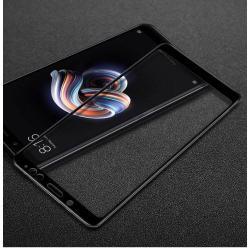 IMAK előlap védő karcálló edzett üveg - FEKETE - 9H - Xiaomi Redmi Note 5 Pro (Global version) / Xiaomi Redmi Note 5 (Global version) - A TELJES KIJELZŐT VÉDI! - GYÁRI