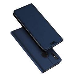 DUX DUCIS slim design notesz / mappa tok - SÖTÉTKÉK - oldalra nyíló flip cover, asztali tartó funkció, szilikon belső, mágneses záródás - Xiaomi Mi 6X / Xiaomi Mi A2 - GYÁRI