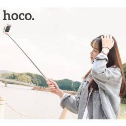 Teleszkópos Selfie bot - 3.5 mm jack csatlakozó, távkioldó exponáló gomb, 71cm hosszú nyél, 55mm-80mm-ig állítható bölcső - RÓZSASZÍN - GYÁRI