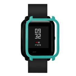 Műanyag védő tok / keret - CYAN - Xiaomi Amazfit Bip / Huami Amazfit Smart Watch Youth Edition