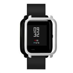 Műanyag védő tok / keret - FEHÉR - Xiaomi Amazfit Bip / Huami Amazfit Smart Watch Youth Edition