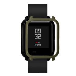 Műanyag védő tok / keret - SÖTÉTZÖLD - Xiaomi Amazfit Bip / Huami Amazfit Smart Watch Youth Edition