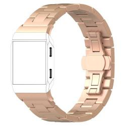 Okosóra szíj - rozsdamentes acél, csatos - ROSE GOLD - Fitbit Ionic