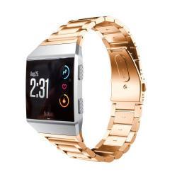 Okosóra szíj - rozsdamentes acél, csatos - ROSE GOLD - 22mm széles, 135-210mm-es csuklóig használható - Fitbit Ionic