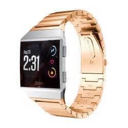 Okosóra szíj - rozsdamentes acél, csatos - ROSE GOLD - 22mm széles, 130-210mm-es csuklóig használható - Fitbit Ionic