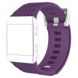 Okosóra szíj - szilikon, rombusz mintás - LILA - S méret - Fitbit Ionic
