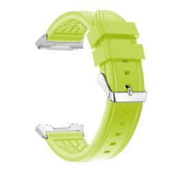 Okosóra szíj - szilikon - ZÖLD - 132+95mm hosszú, 22mm széles, 145-210mm-es csuklóig ajánlott - Fitbit Ionic
