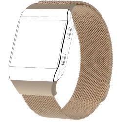 Okosóra szíj - rozsdamentes acél, mágneses - PEZSGŐ - L méret, 238mm hosszú - Fitbit Ionic