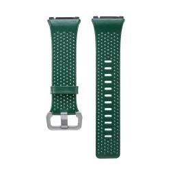 Okosóra szíj - ZÖLD - valódi bőr, 165-220mm-es csuklóig ajánlott - Fitbit Ionic