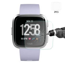 HAT PRINCE előlap védő karcálló edzett üveg - 2db - 0,2 mm vékony, 9H, 2.15D - Fitbit Versa