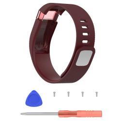 Okosóra szíj - BORDÓ - szilikon, textúrált mintás, cseréhez szükséges szerszámokkal - Fitbit Charge