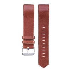 Okosóra szíj - BORDÓ - valódi bőr, 22mm széles - Fitbit Charge 2