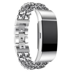 Okosóra szíj - rozsdamentes acél - EZÜST - Fitbit Charge 2