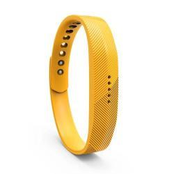Okosóra szíj - SÁRGA - szilikon, textúrált mintás - Fitbit Flex 2