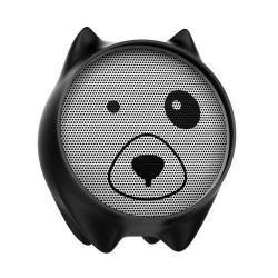 BASEUS Q E06 hordozható bluetooth hangszóró, 3,5mm AUX, beépített mikrofon, V4.2 - FEKETE - GYÁRI