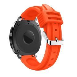 Okosóra szíj - NARANCS - szilikon, 215 mm-es csuklóig használható, 128mm + 88mm hosszú, 20mm széles - SAMSUNG SM-R600 Galaxy Gear Sport