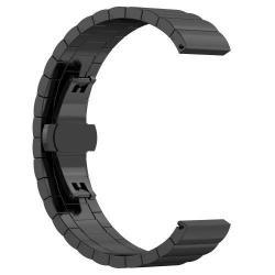 Okosóra szíj - FEKETE - rozsdamentes acél, speciális pillangó csat - SAMSUNG SM-R600 Galaxy Gear Sport