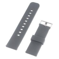 UNIVERZÁLIS szilikon okosóra szíj - SZÜRKE - Samsung Gear 2 R380 / LG G Watch W100 / LG G Watch R W110 / Asus Zenwatch