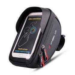 UNIVERZÁLIS biciklis / kerékpáros tartó konzol mobiltelefon készülékekhez - cseppálló védő tokos kialakítás, cipzár, 6