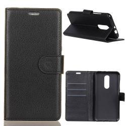 Notesz tok / flip tok - FEKETE - asztali tartó funkciós, oldalra nyíló, rejtett mágneses záródás, bankkártyatartó zseb, szilikon belső - Vodafone Smart N9