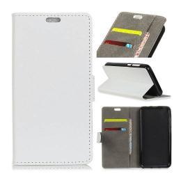 Notesz tok / flip tok - FEHÉR - asztali tartó funkciós, oldalra nyíló, rejtett mágneses záródás, bankkártyatartó zseb, szilikon belső - Vodafone Smart N9 lite