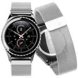 Okosóra szíj - rozsdamentes acél, mágneses - EZÜST - HUAWEI Watch 2
