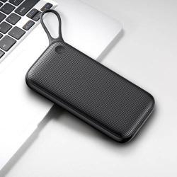 BASEUS hordozható töltő, Power Bank - 20000mAh, 18W 2 x USB aljzat, 1 x Type-C aljzat, PD+Quick Charge 3.0 - FEKETE - GYÁRI