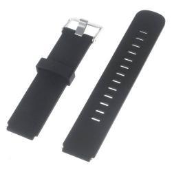 Okosóra szíj - FEKETE - szilikon, 20cm hosszú és 2cm széles - HUAWEI Watch